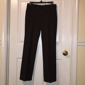 Theory Dark Brown Wool Blend Slacks Size 4